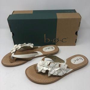 B.O.C. Adney Thong Sandals-White-NIB!!!
